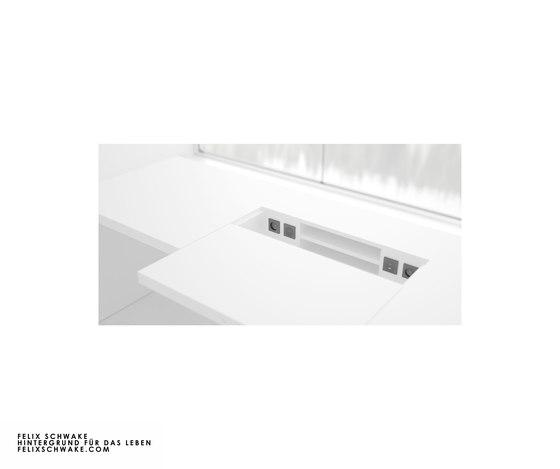 ESCRITORIO II edición especial - Lacado piano blanco de Rechteck