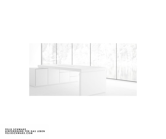 DESK IV-I special edition - Piano lacquer white by Rechteck