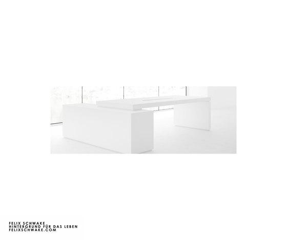 ESCRITORIO IV-I edición especial - Lacado piano blanco de Rechteck