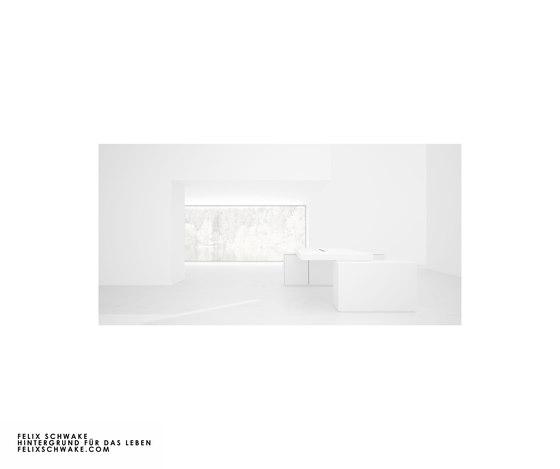 ESCRITORIO IV-II edición especial - Lacado piano blanco de Rechteck