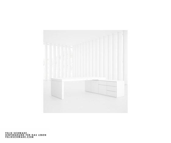 ESCRITORIO IV-I-I edición especial - Lacado piano blanco de Rechteck