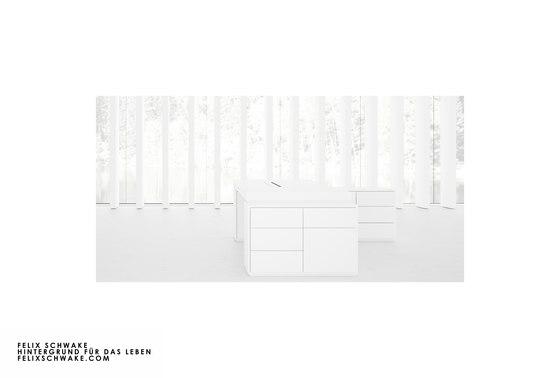 BUREAU IV-II-I édition spéciale - Piano laqué blanc de Rechteck
