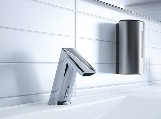ultra wall-mounted faucet GW20 with IR-Sensor, without mixing, chrome - battery | VARIOconnect de CONTI+