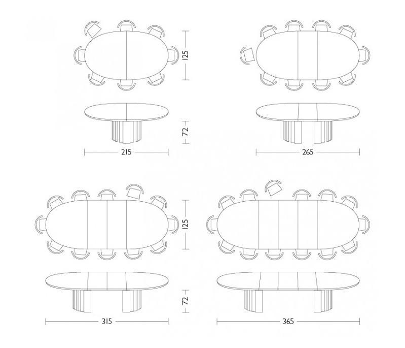 oval tisch dining tables from r thlisberger kollektion. Black Bedroom Furniture Sets. Home Design Ideas