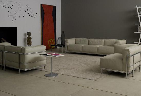 Lc3 2 seater lounge sofas from cassina architonic - Divano le corbusier cassina prezzo ...