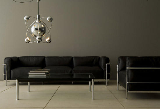 lc3 2 seater lounge sofas from cassina architonic. Black Bedroom Furniture Sets. Home Design Ideas