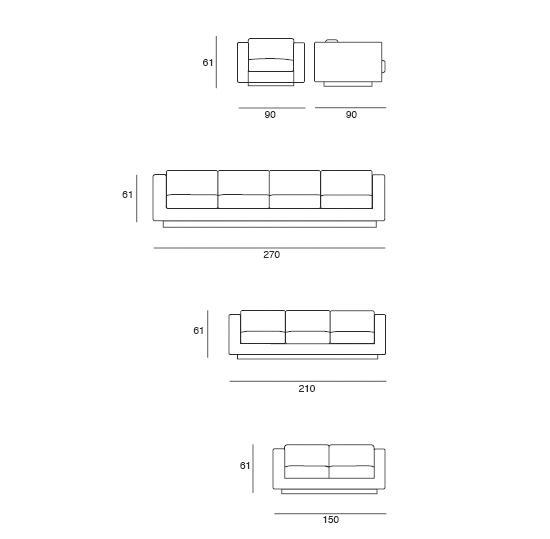Saratoga sofa sofas from poltronova architonic for Kitchen yoshimoto summary