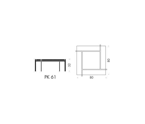 PK61™  Couchtische von Fritz Hansen  ARCHITONIC