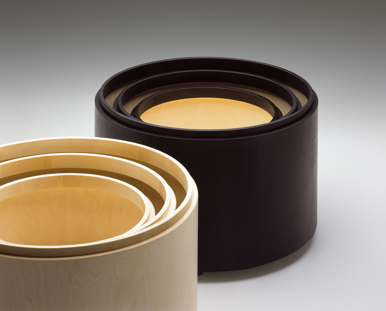 frank aufbewahrungsm bel trommel beistelltische von. Black Bedroom Furniture Sets. Home Design Ideas