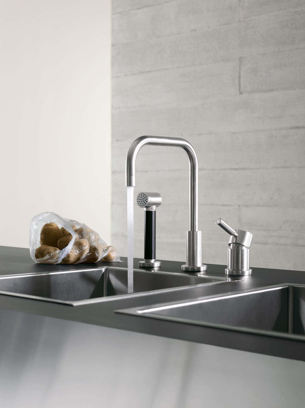 wall mounted mixer kitchen taps from. Black Bedroom Furniture Sets. Home Design Ideas