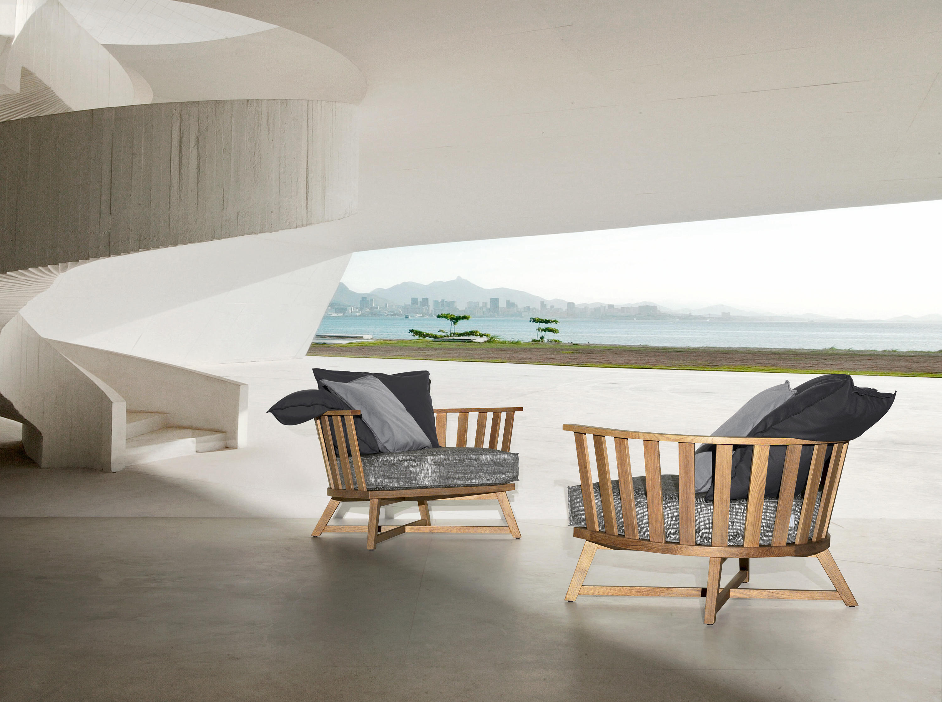 Inout 83 l r sun loungers from gervasoni architonic for Gervasoni furniture