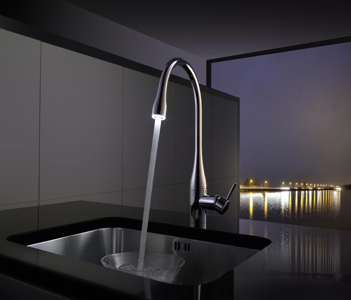 KWC EVE LEVER MIXER|PULL-OUT AERATOR COVERED - Kitchen taps from KWC ...