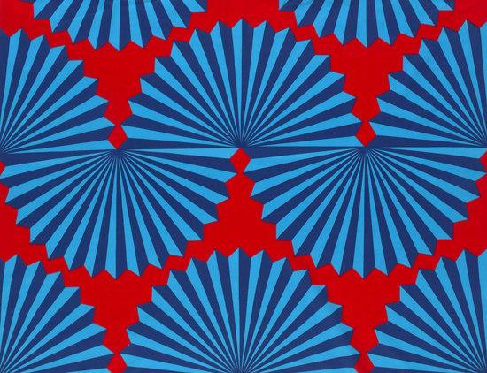 FORMA RED/BLUE INTERIOR FABRIC - Drapery fabrics from