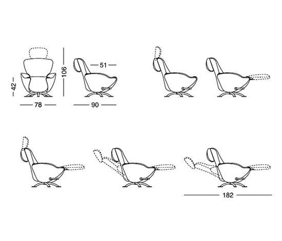 Fauteuil Dodo Cassina.K10 Dodo Chaise Longues From Cassina Architonic