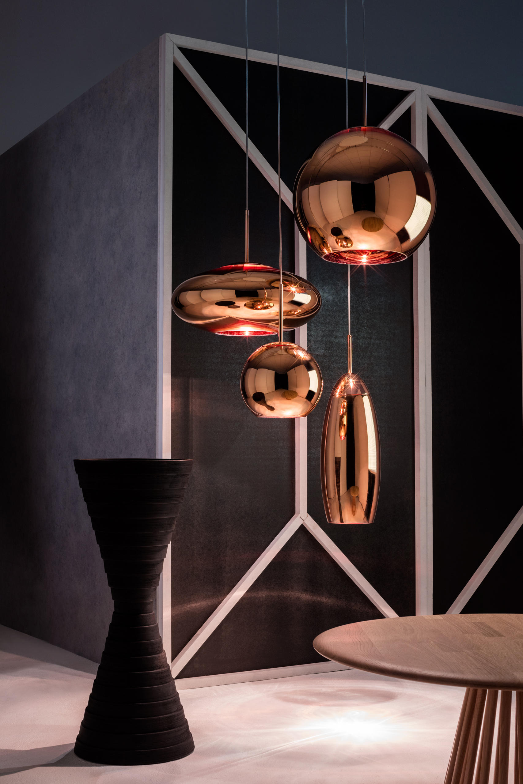 ... Copper Round Pendant 25cm By Tom Dixon ...