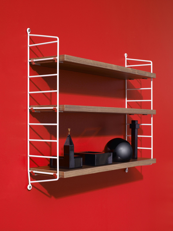 string pocket burgundy cd racks from string furniture architonic. Black Bedroom Furniture Sets. Home Design Ideas