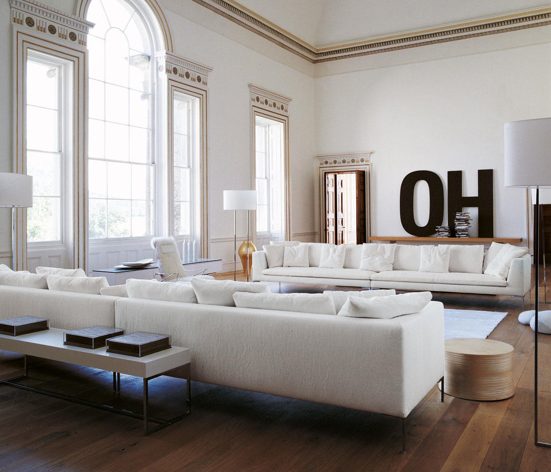 Spacious Living Room: CHARLES LARGE CHL135LS+CHL158D