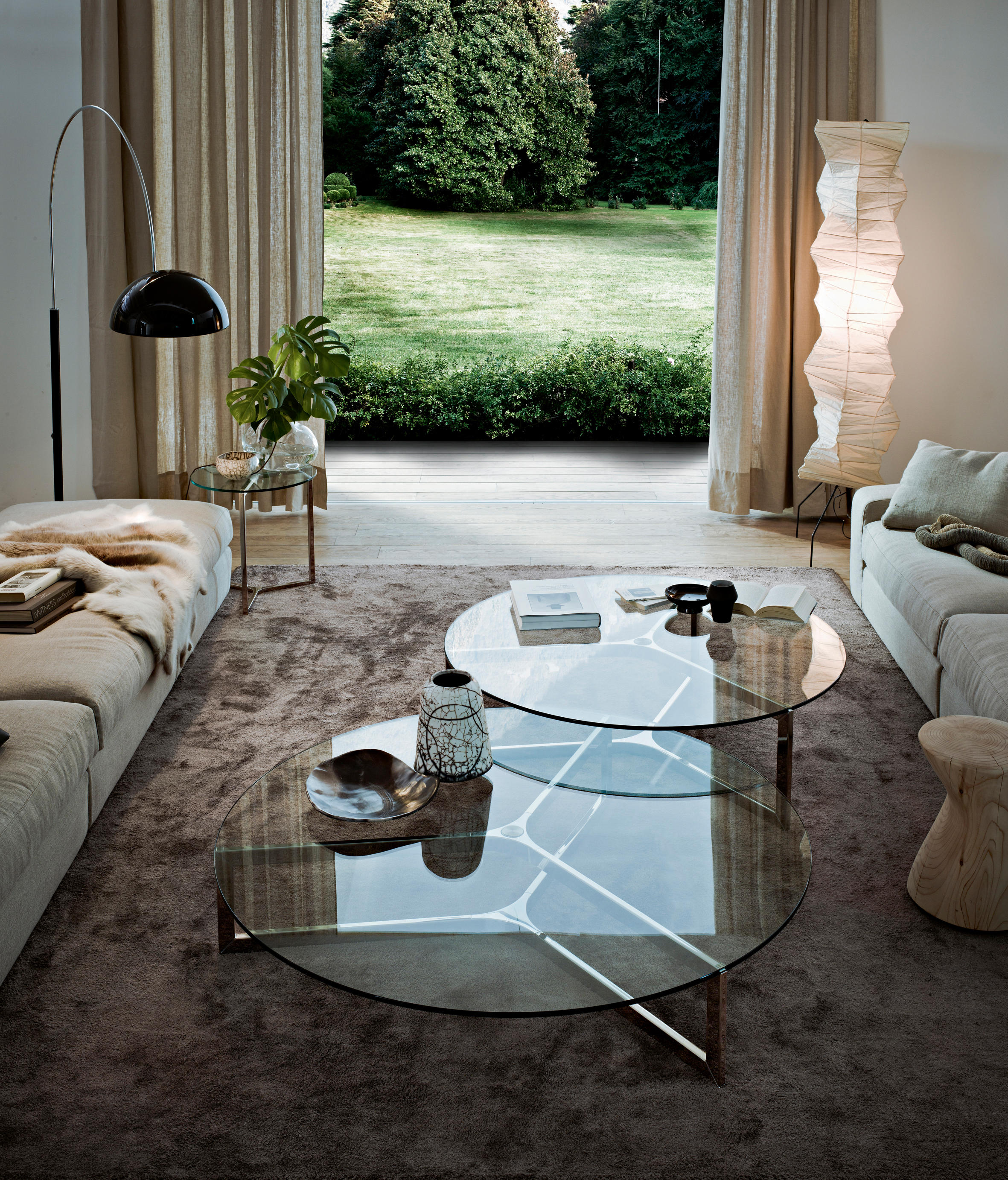 RAJ 1 Lounge tables from Gallotti&Radice