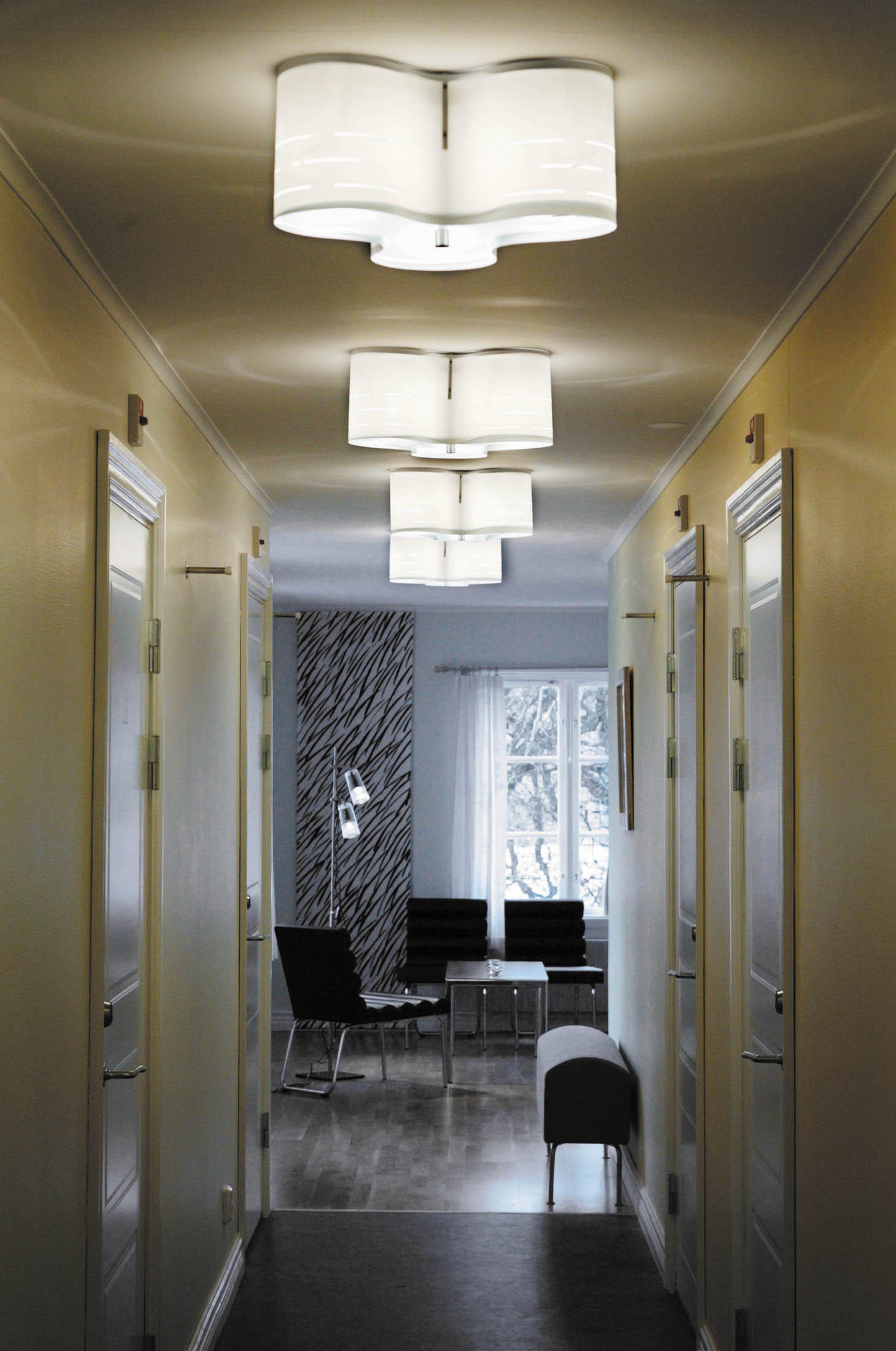 Clover 12c ceiling light grey general lighting from for Placoplatre decoration plafond