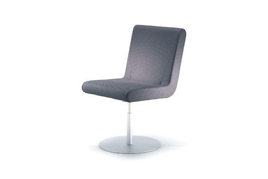 BOOMERANG Round Base Swivel Chair By IXC.