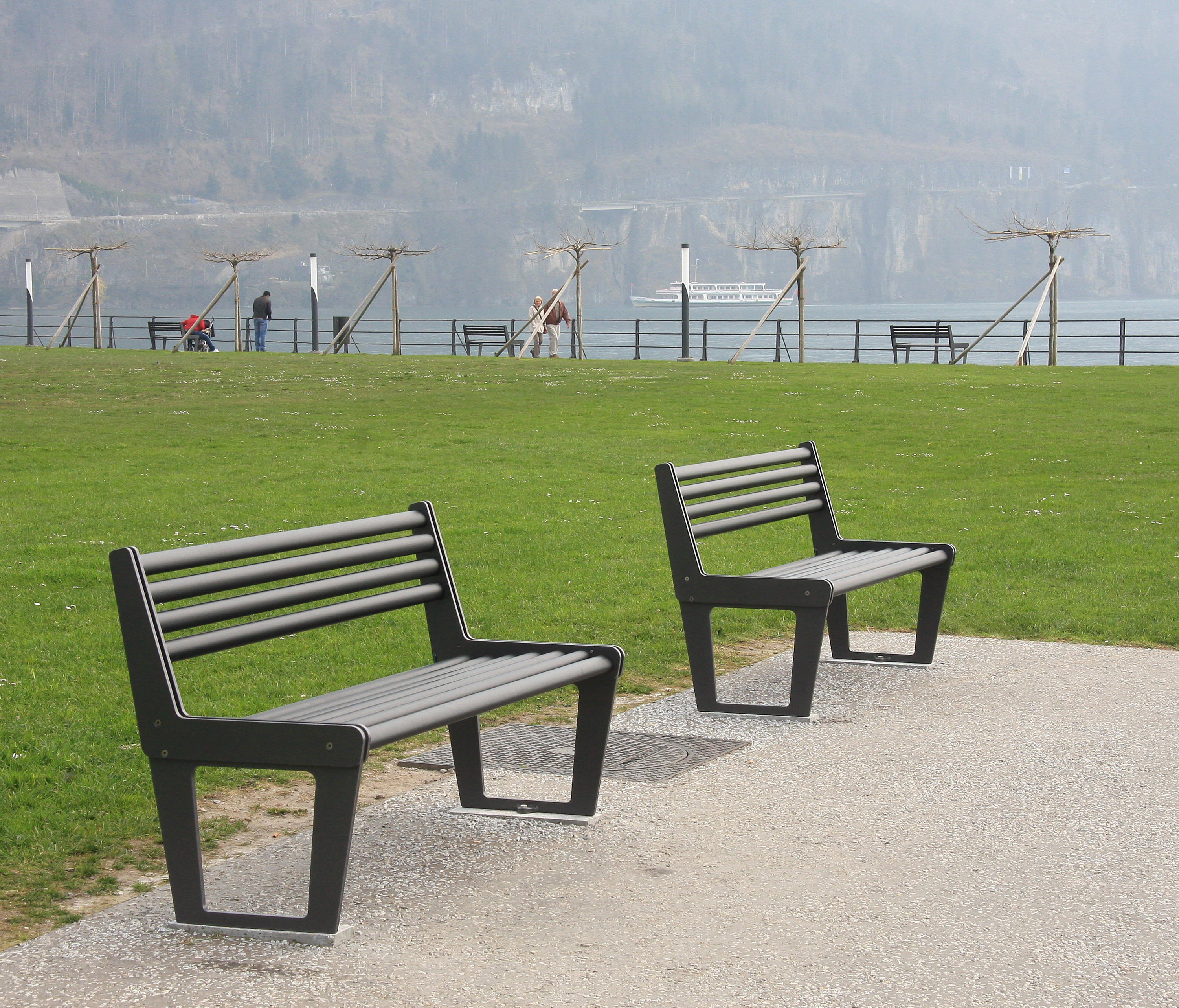 CITY BENCH TYPE V WITH BACKREST - Benches from BURRI ...
