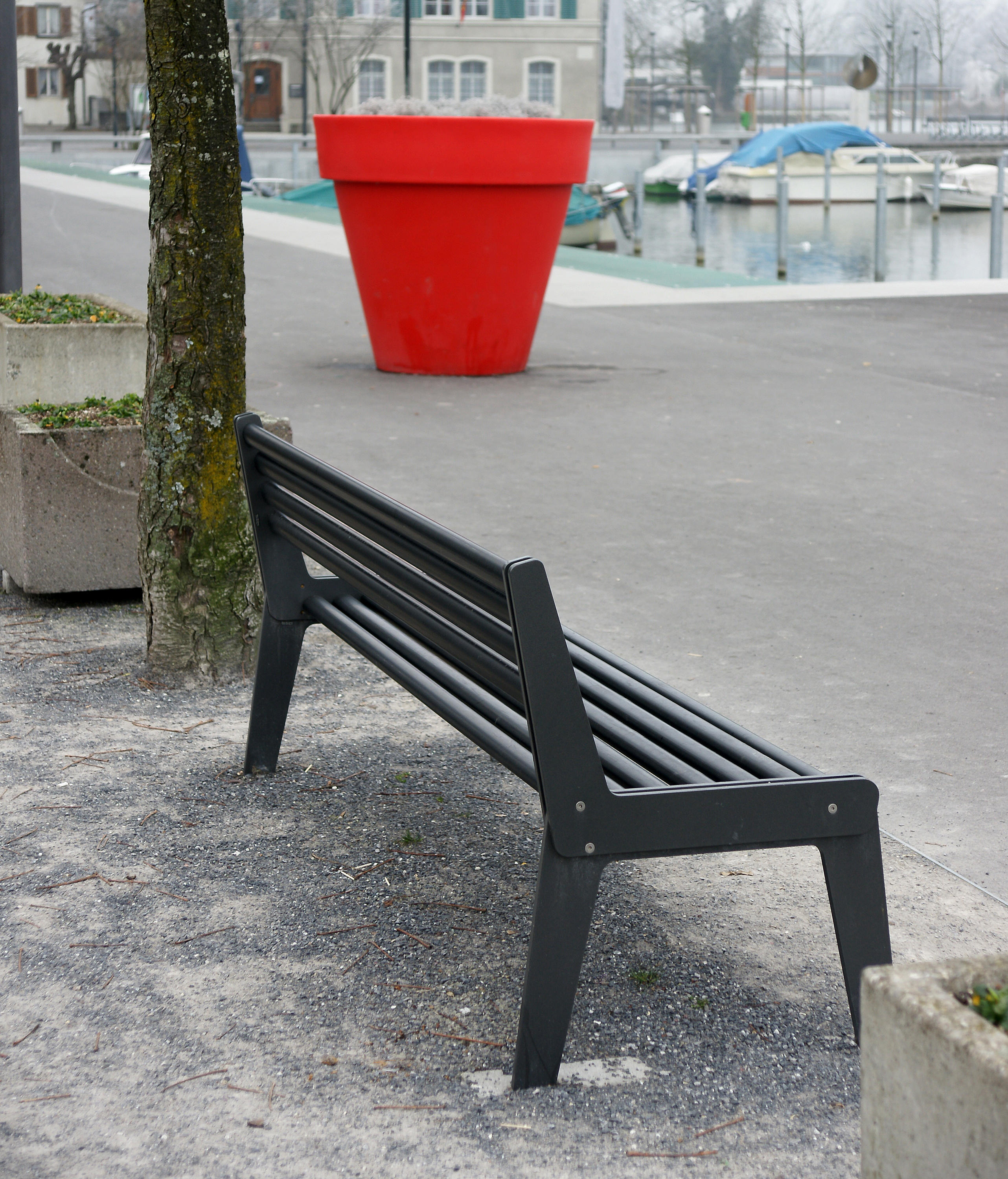 City Bench Type A With Backrest And Armrest Benches From