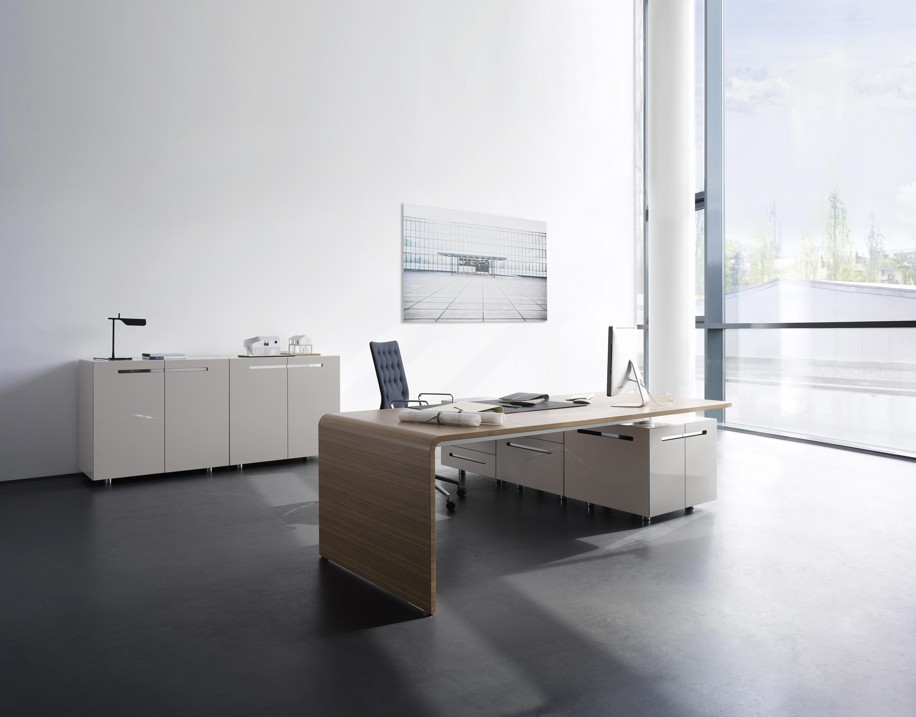 lane office table executive desks from renz architonic. Black Bedroom Furniture Sets. Home Design Ideas