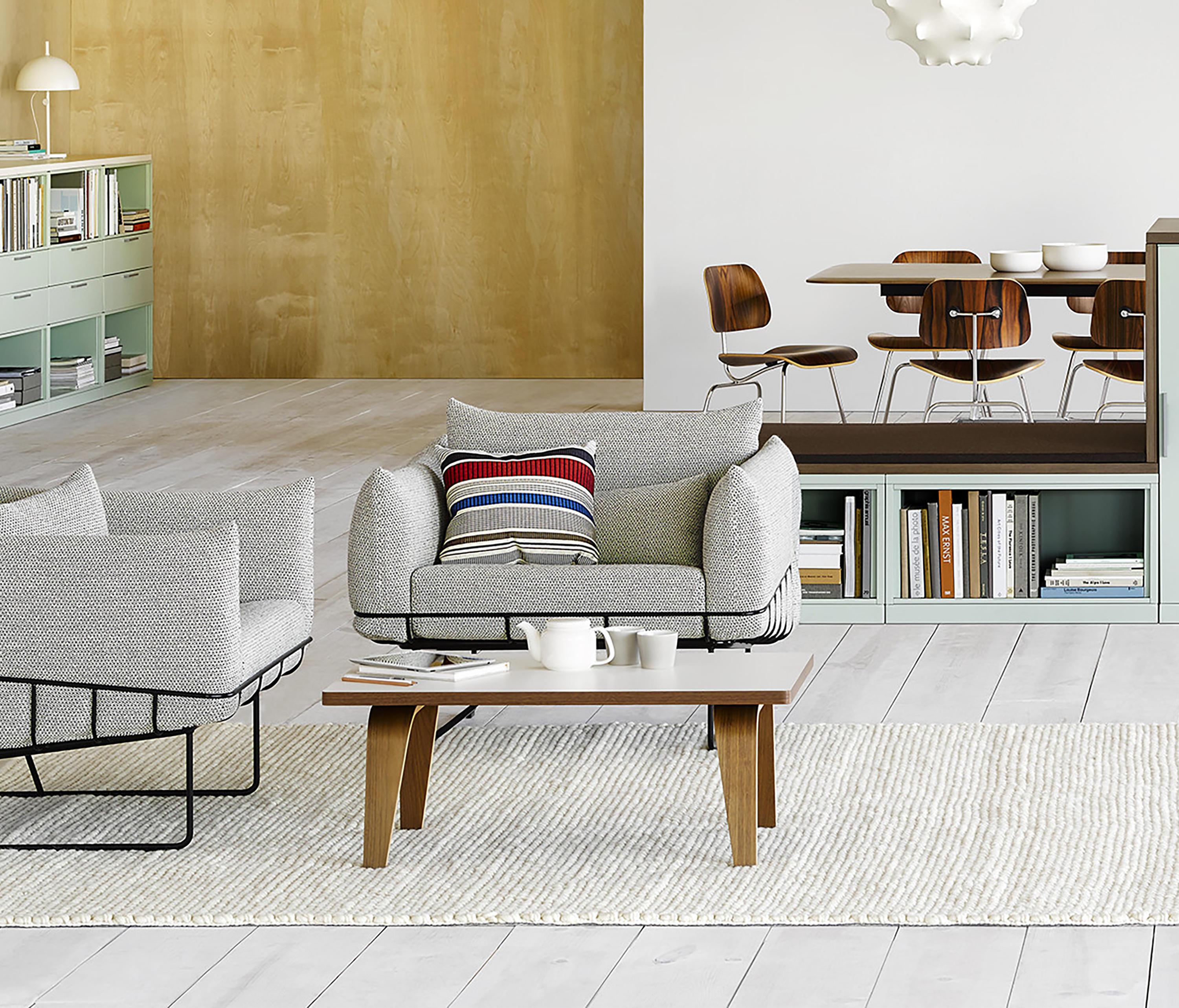 ... Eames Molded Plywood Coffee Table Wood Base By Herman Miller