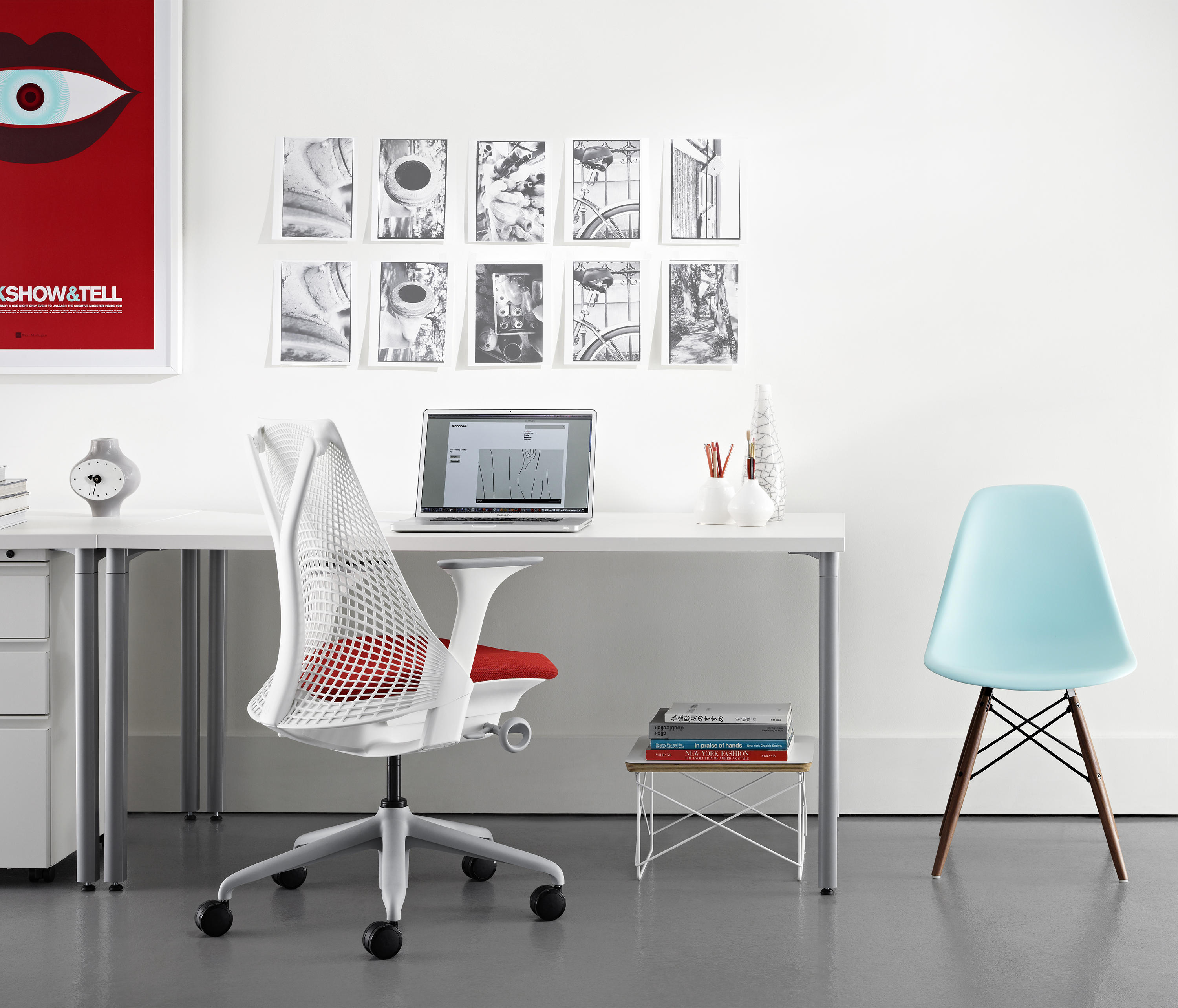 Eames plastic side chair wire base charles and ray eames herman miller -  Eames Wire Base Low Table By Herman Miller