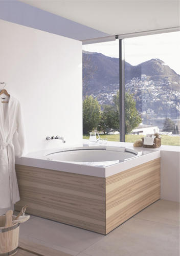 blue moon badewanne quadratisch einbau von duravit. Black Bedroom Furniture Sets. Home Design Ideas