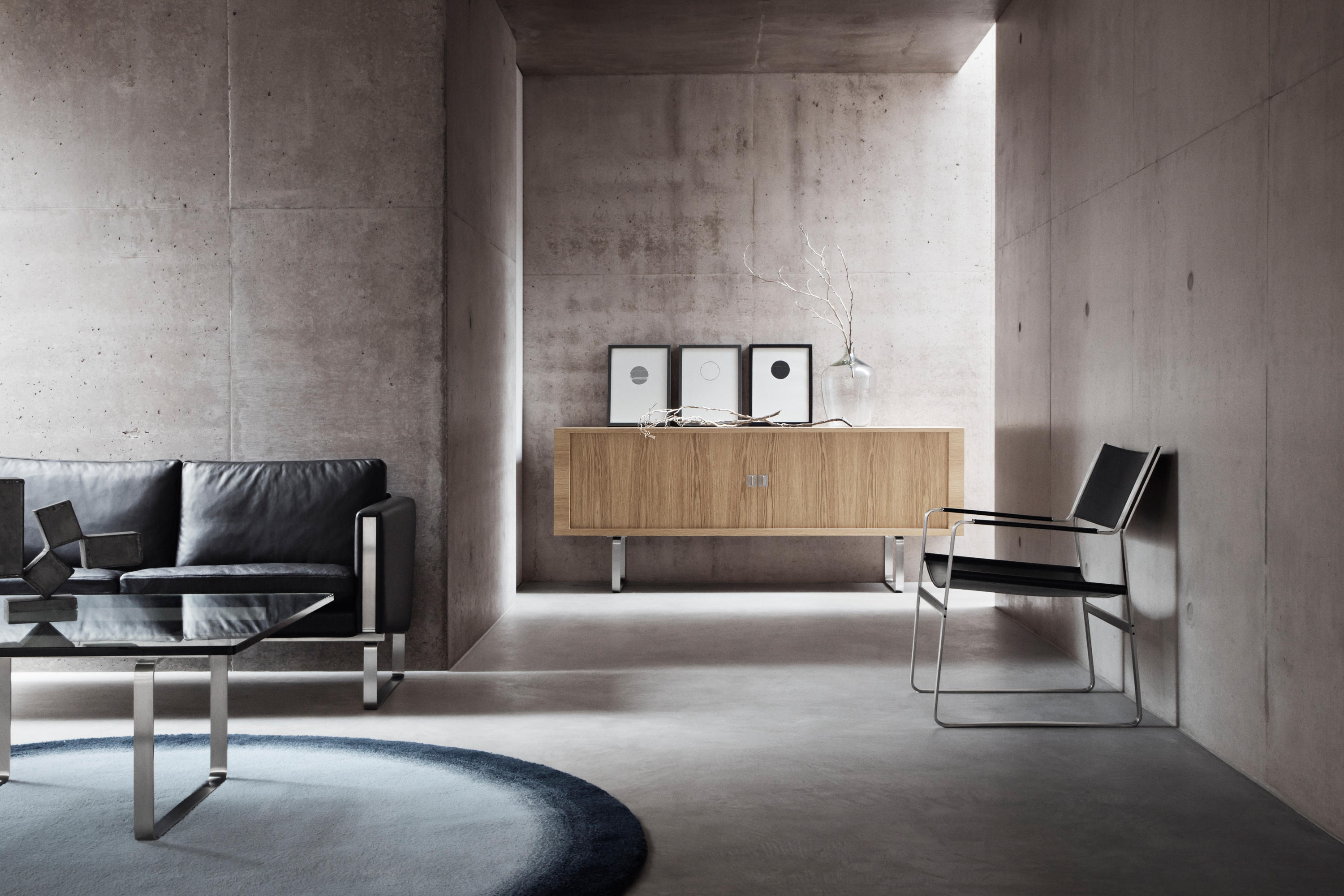 ch102 lounge sofas from carl hansen s n architonic. Black Bedroom Furniture Sets. Home Design Ideas