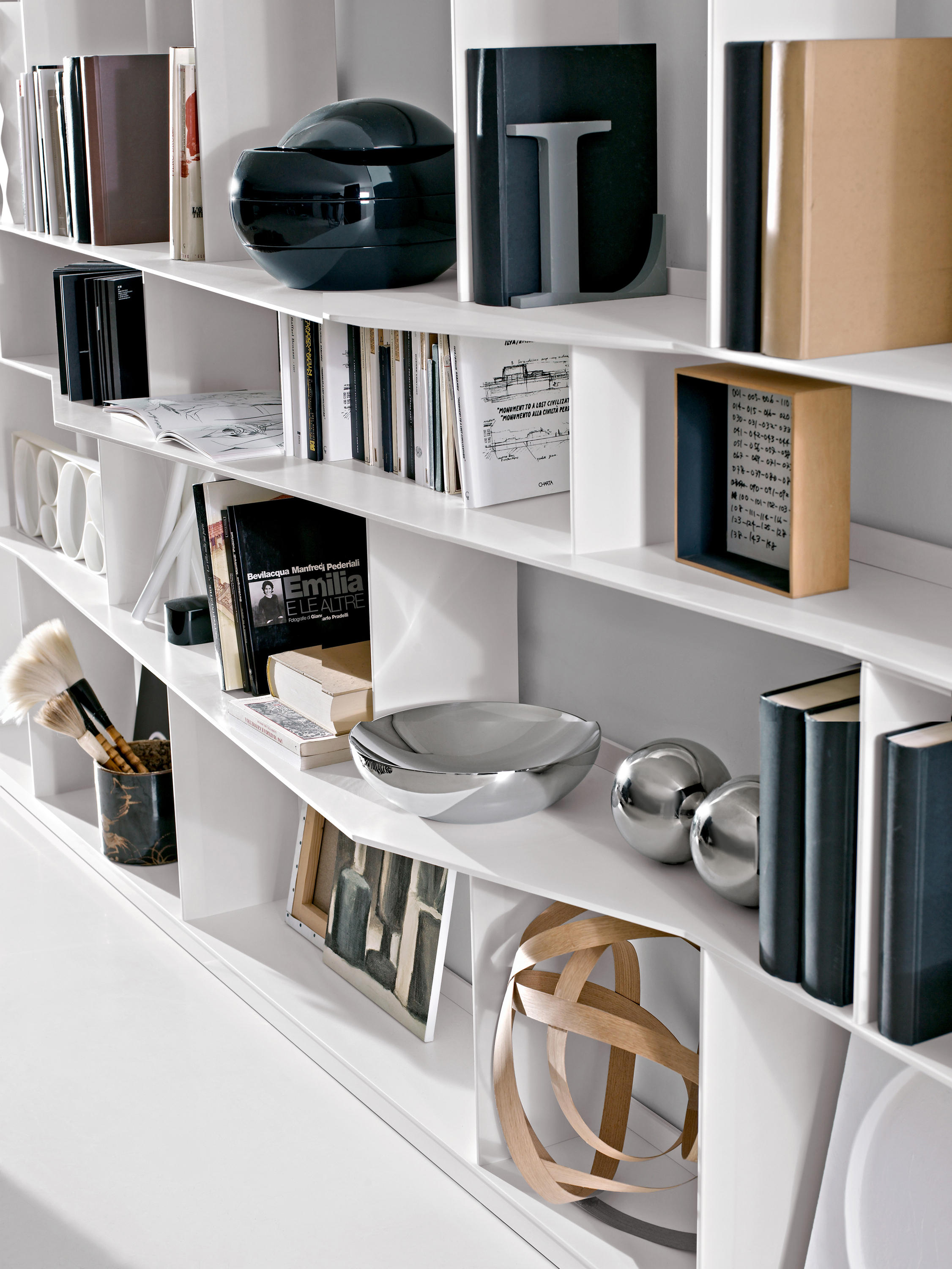Wonderful image of Flat.C Shelves by B&B Italia Architonic with #65492F color and 2252x3000 pixels