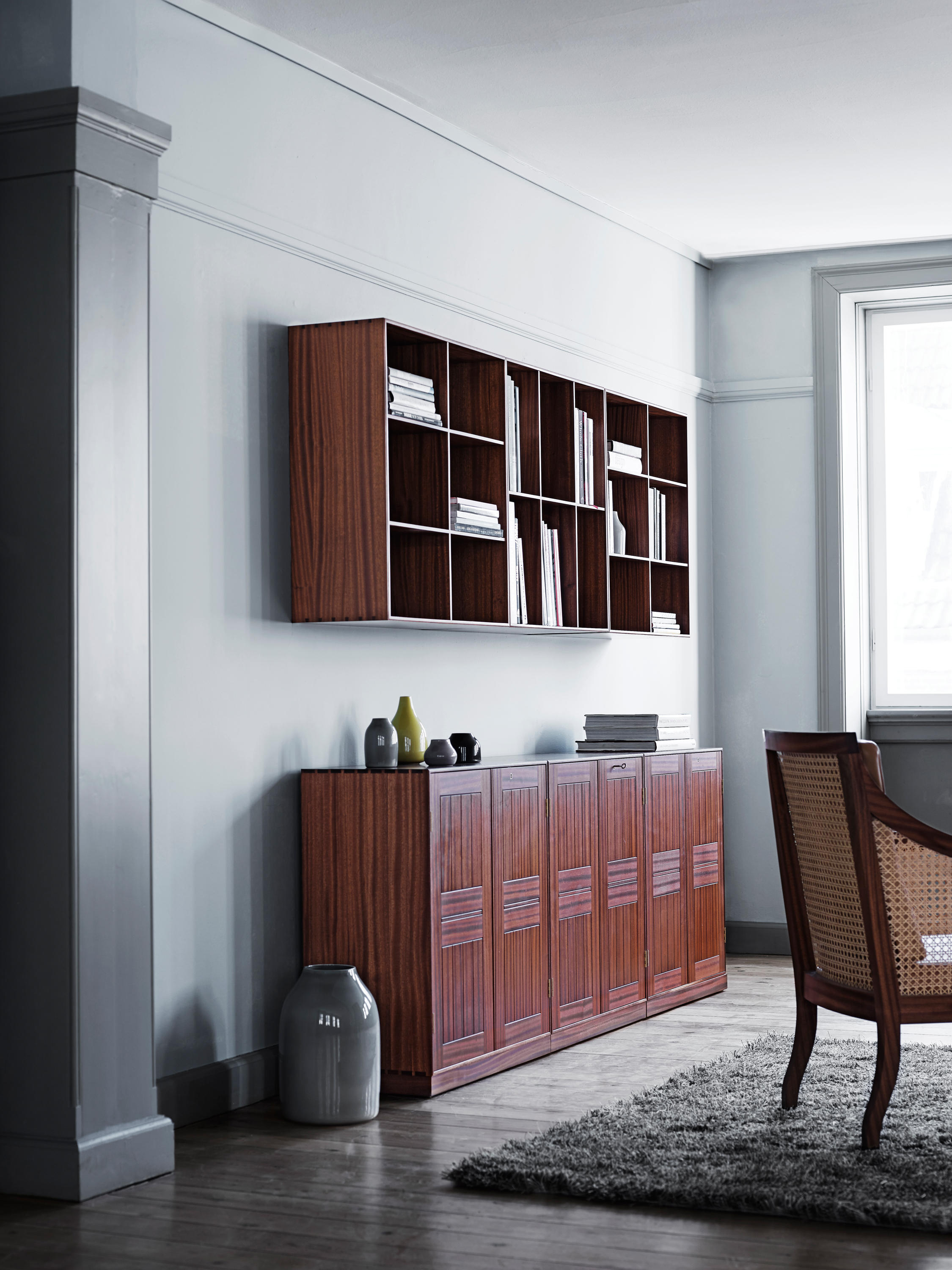 MOGENS KOCH 2/3 BOOKCASE - Shelving from Carl Hansen & Søn ...