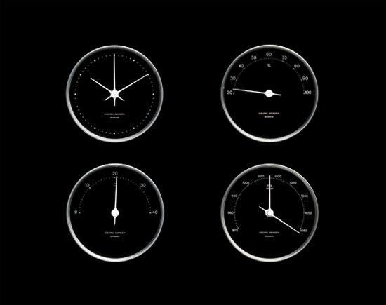 koppel clock 10 cm uhren von georg jensen architonic. Black Bedroom Furniture Sets. Home Design Ideas