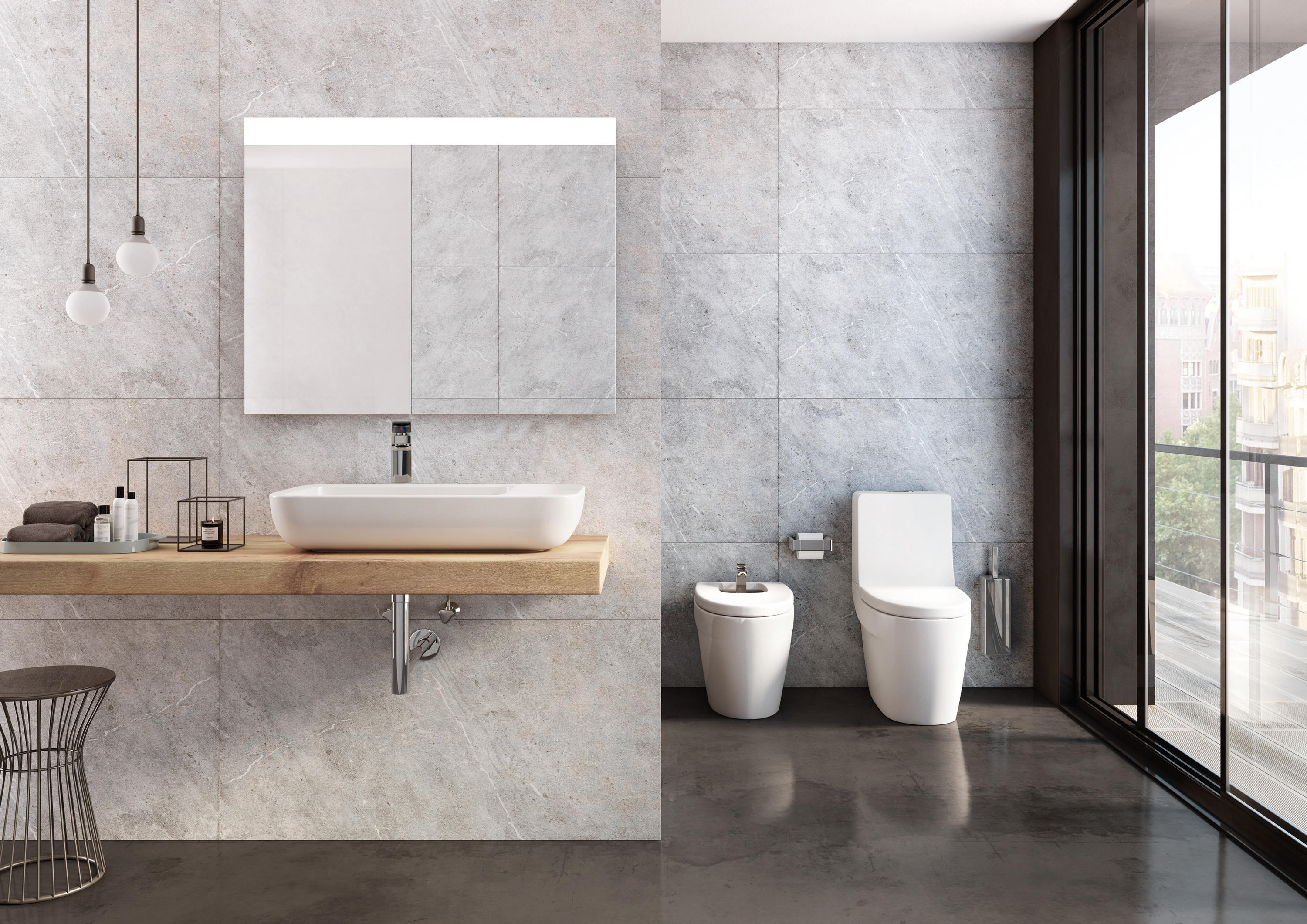 Khroma lavabo lavabos mueble de roca architonic for Lavabo diverta de roca