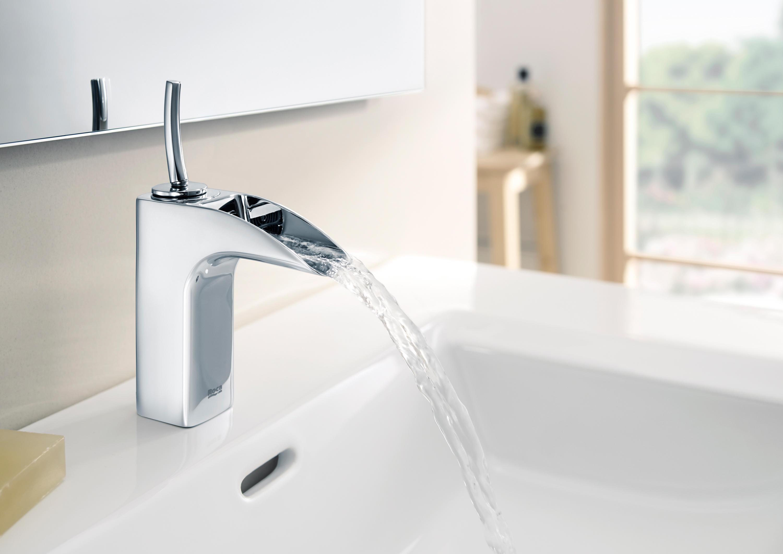 Evol basin mixer wash basin taps from roca architonic for Catalogo griferia roca