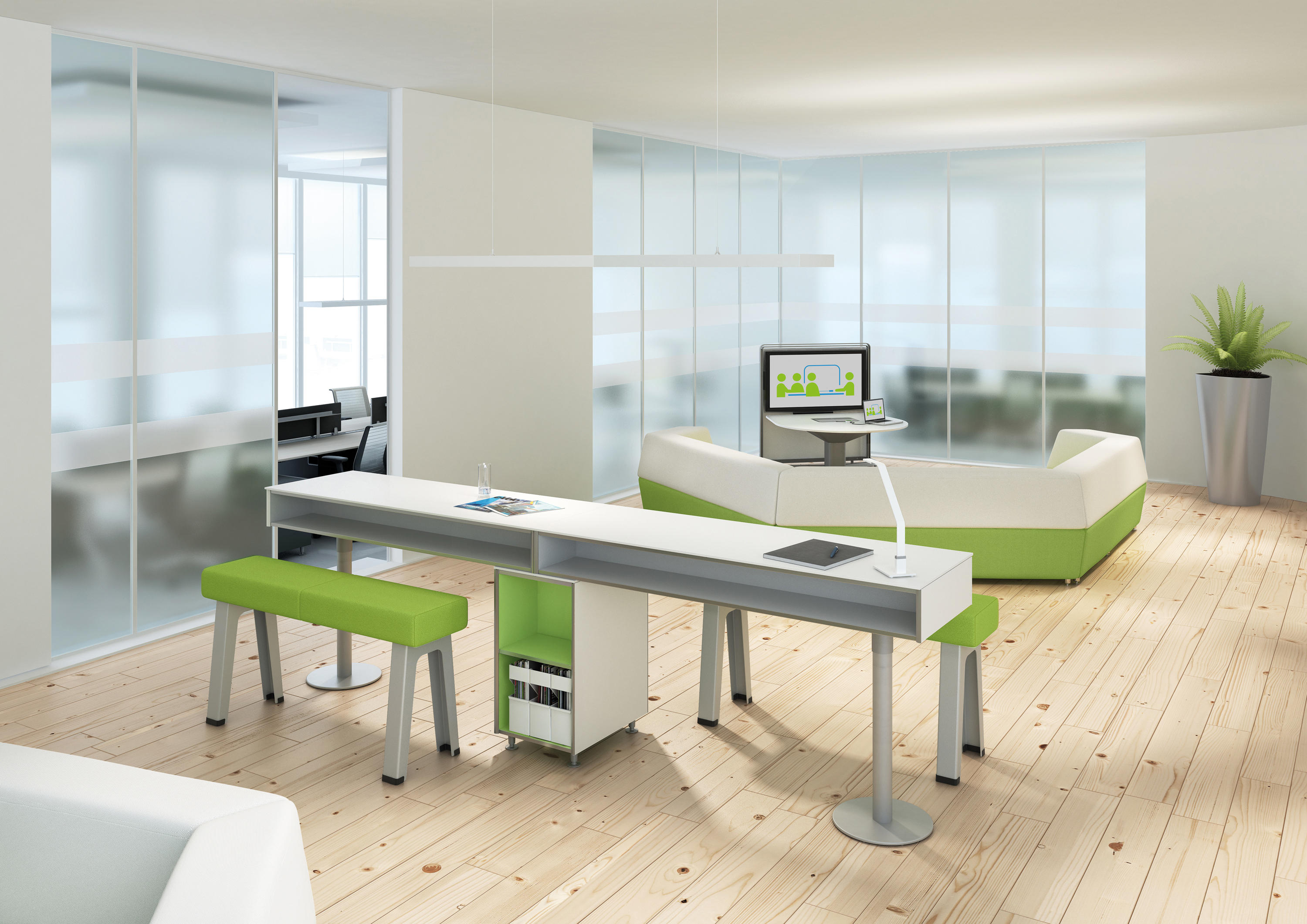 b free lounge bar tables from steelcase architonic. Black Bedroom Furniture Sets. Home Design Ideas
