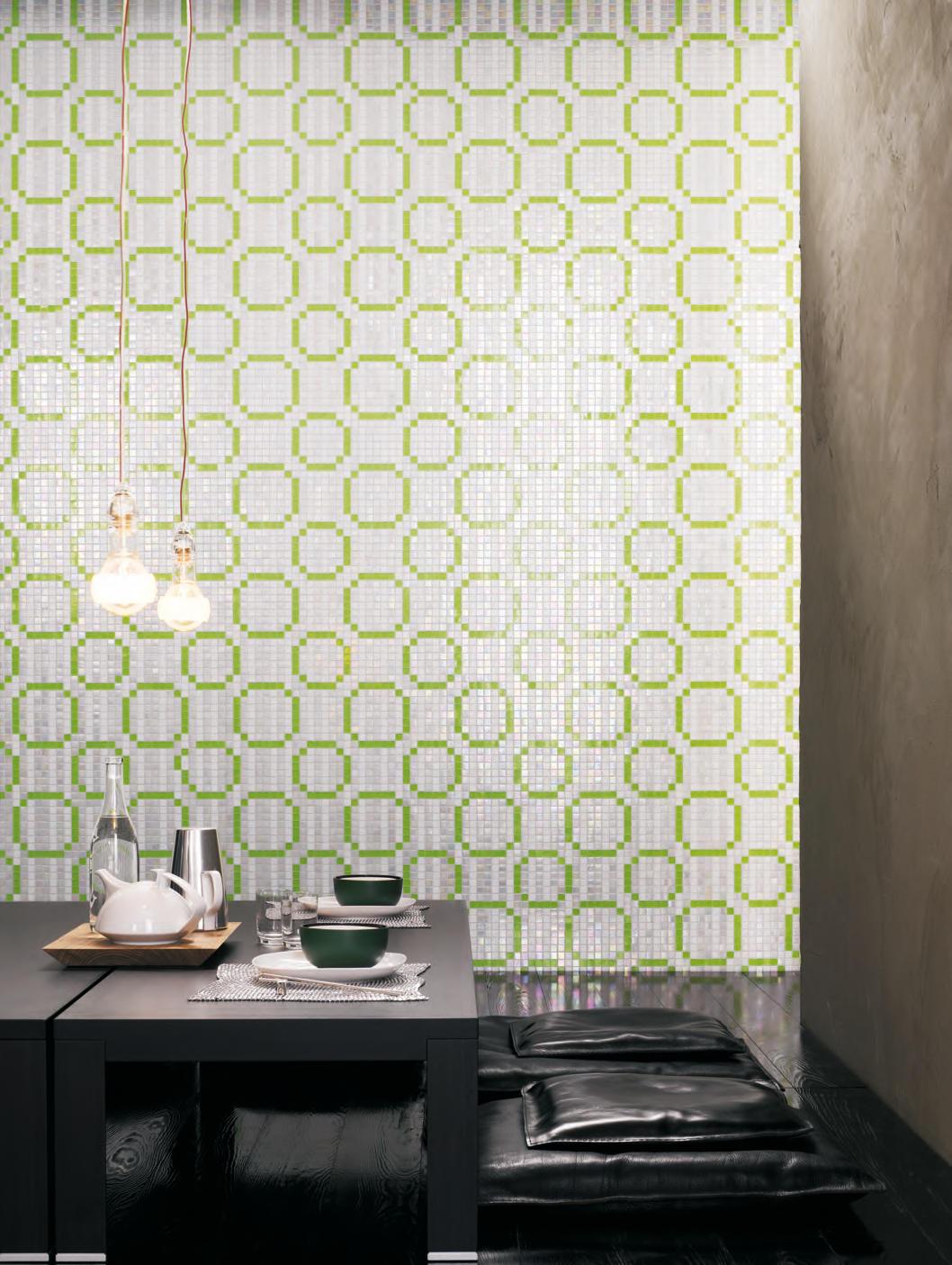 RINGS GREEN MOSAIC - Glass mosaics from Bisazza   Architonic