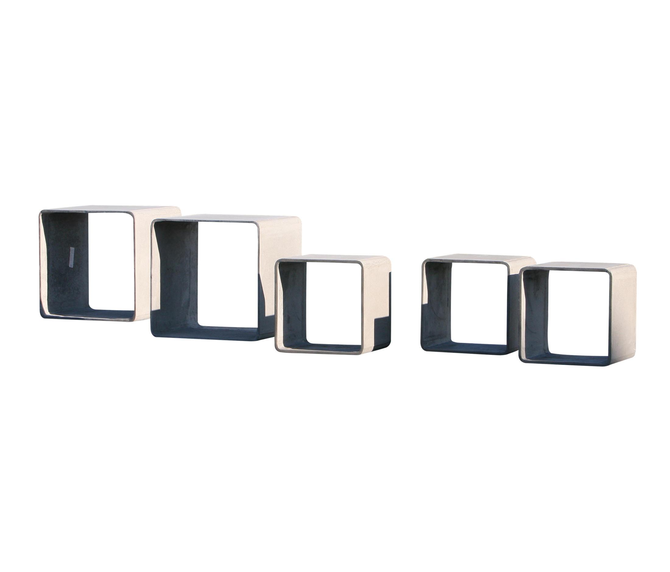 cubus system fibre cement tables de chevet de labelform. Black Bedroom Furniture Sets. Home Design Ideas