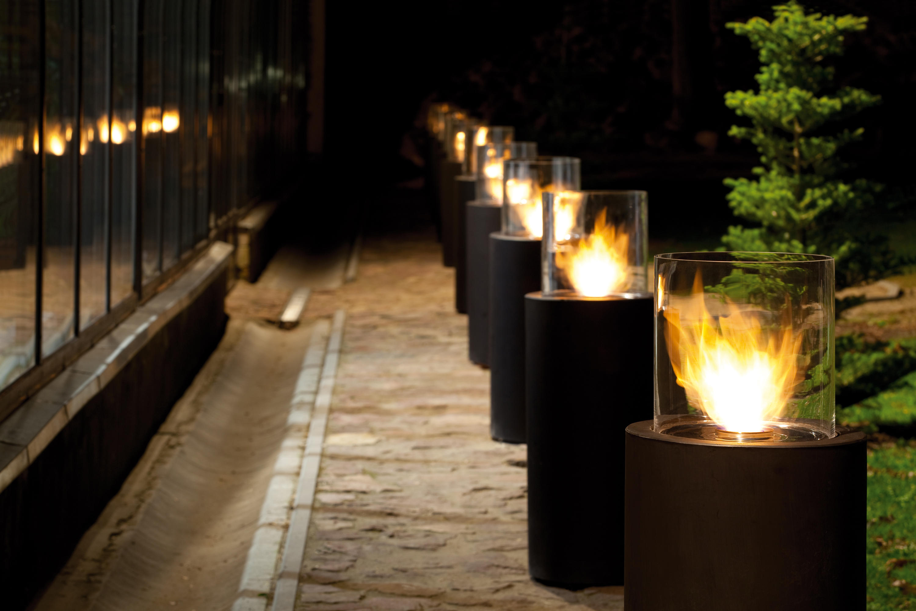 totem commerce garden fire pits from planika architonic