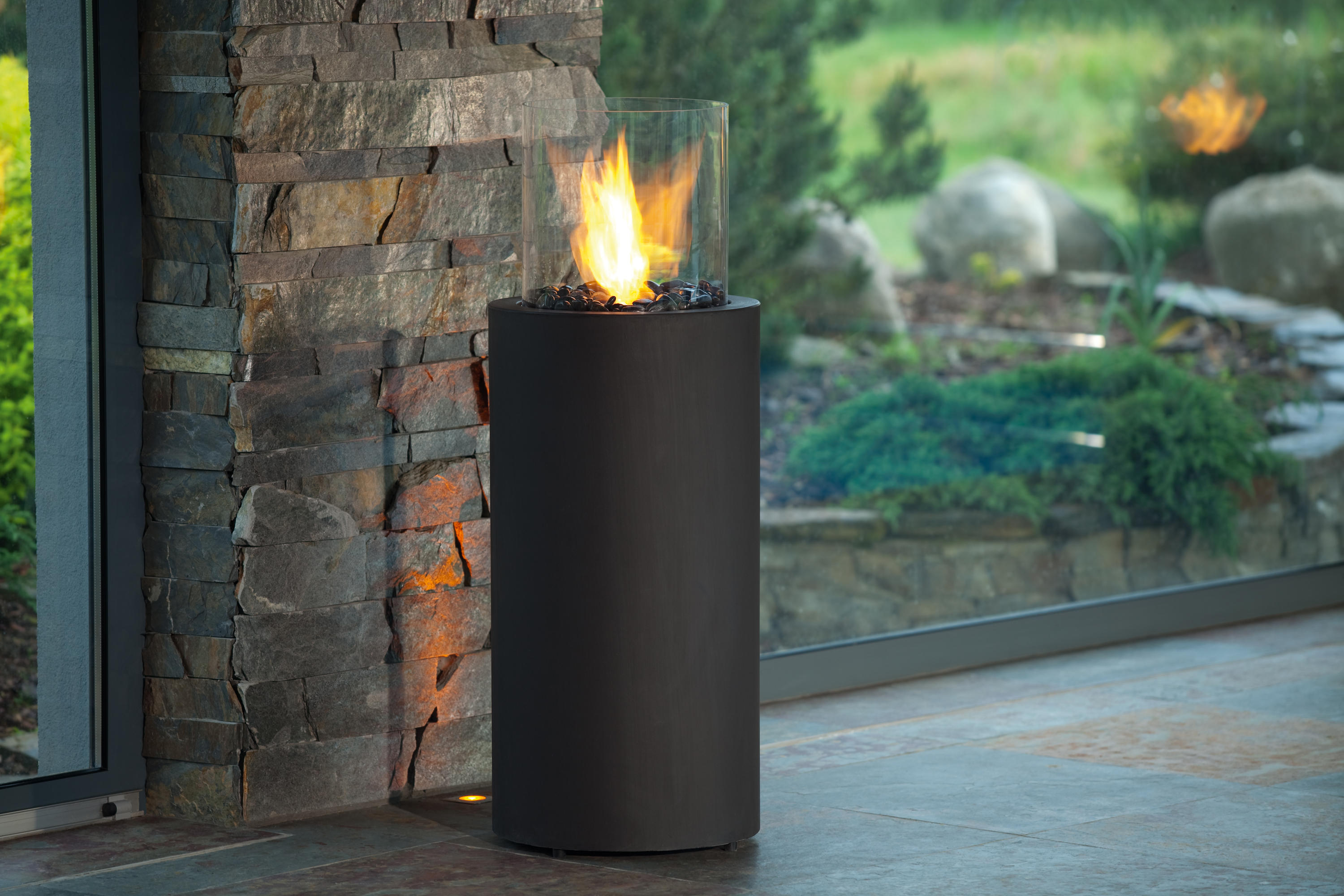 Totem Commerce Ventless Fires From Planika Architonic