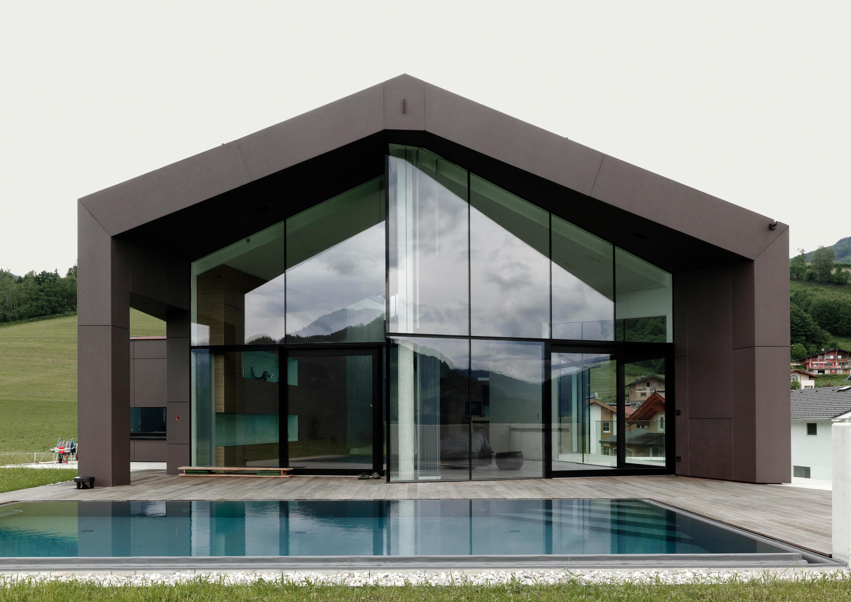 awesome ambient images with facade moderne villa. Black Bedroom Furniture Sets. Home Design Ideas