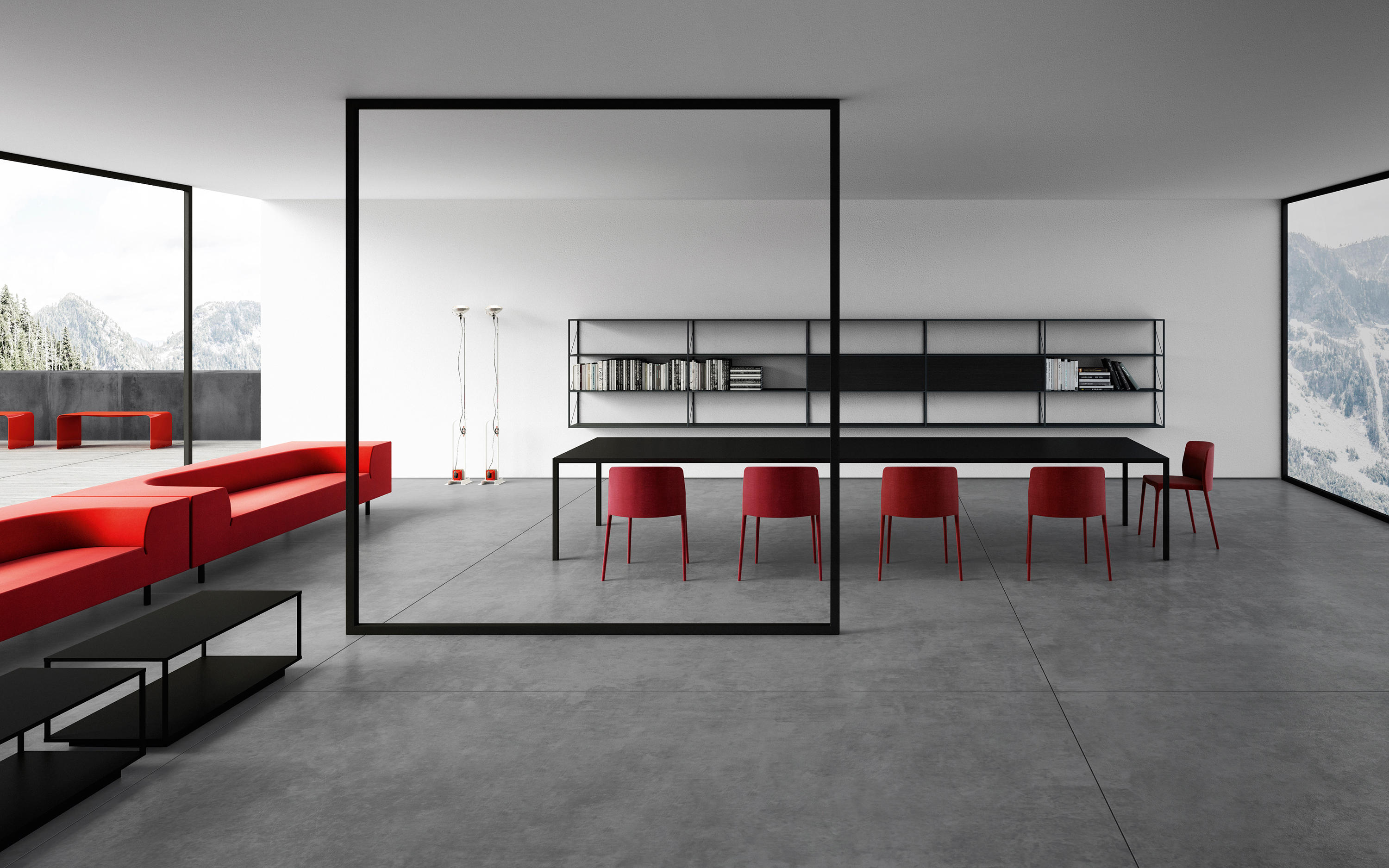 tense table individual desks from mdf italia architonic. Black Bedroom Furniture Sets. Home Design Ideas