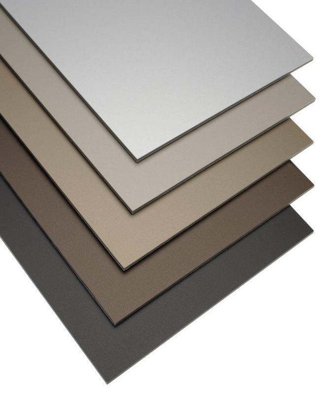 alucobond anodized look satin brown sheets from 3a. Black Bedroom Furniture Sets. Home Design Ideas