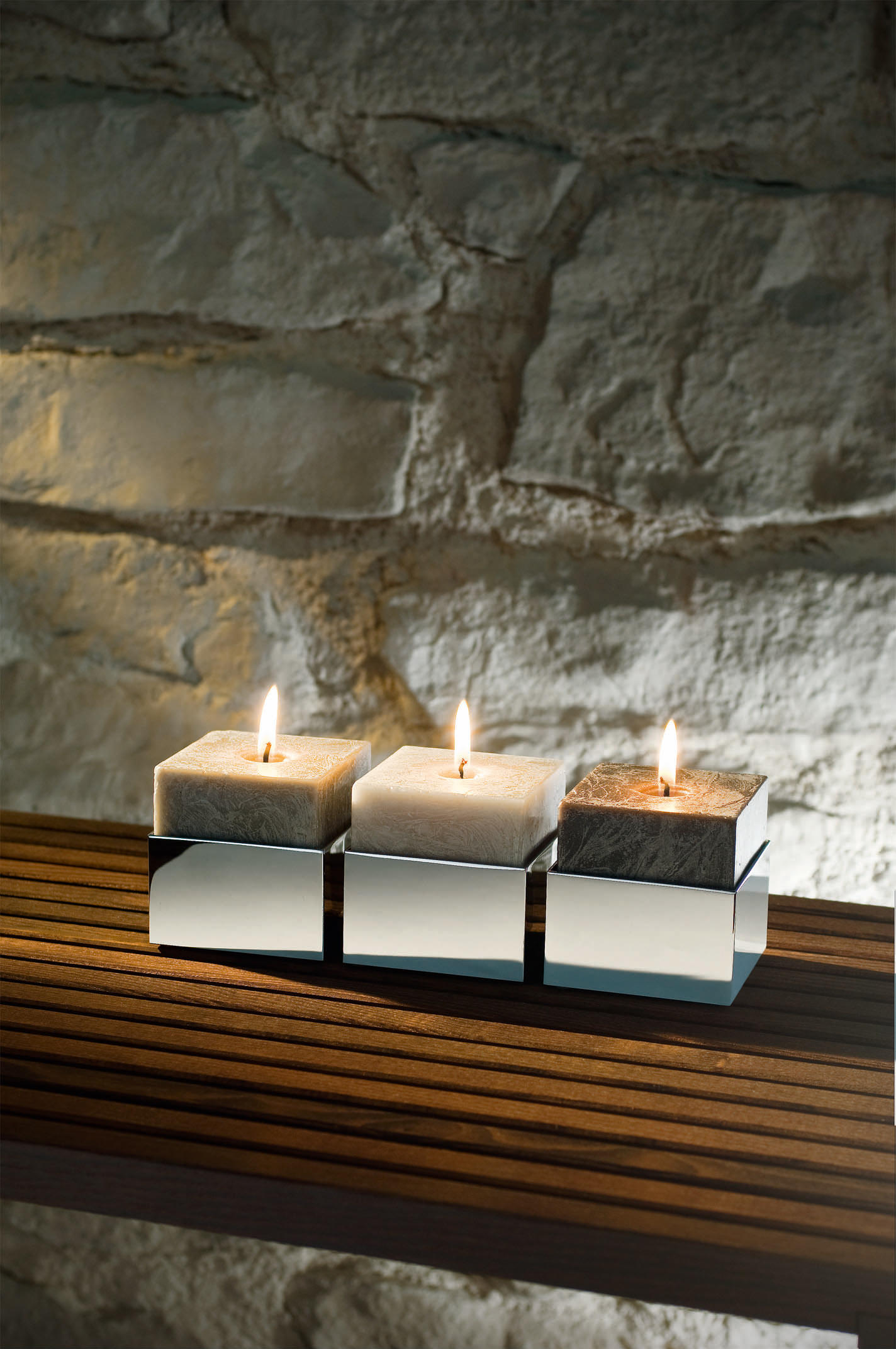 brick bk knh candlesticks candleholder from decor walther architonic. Black Bedroom Furniture Sets. Home Design Ideas