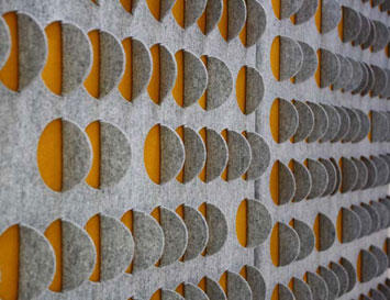 Cut Fold Felt Acoustic Panels Sound Absorbing Wall