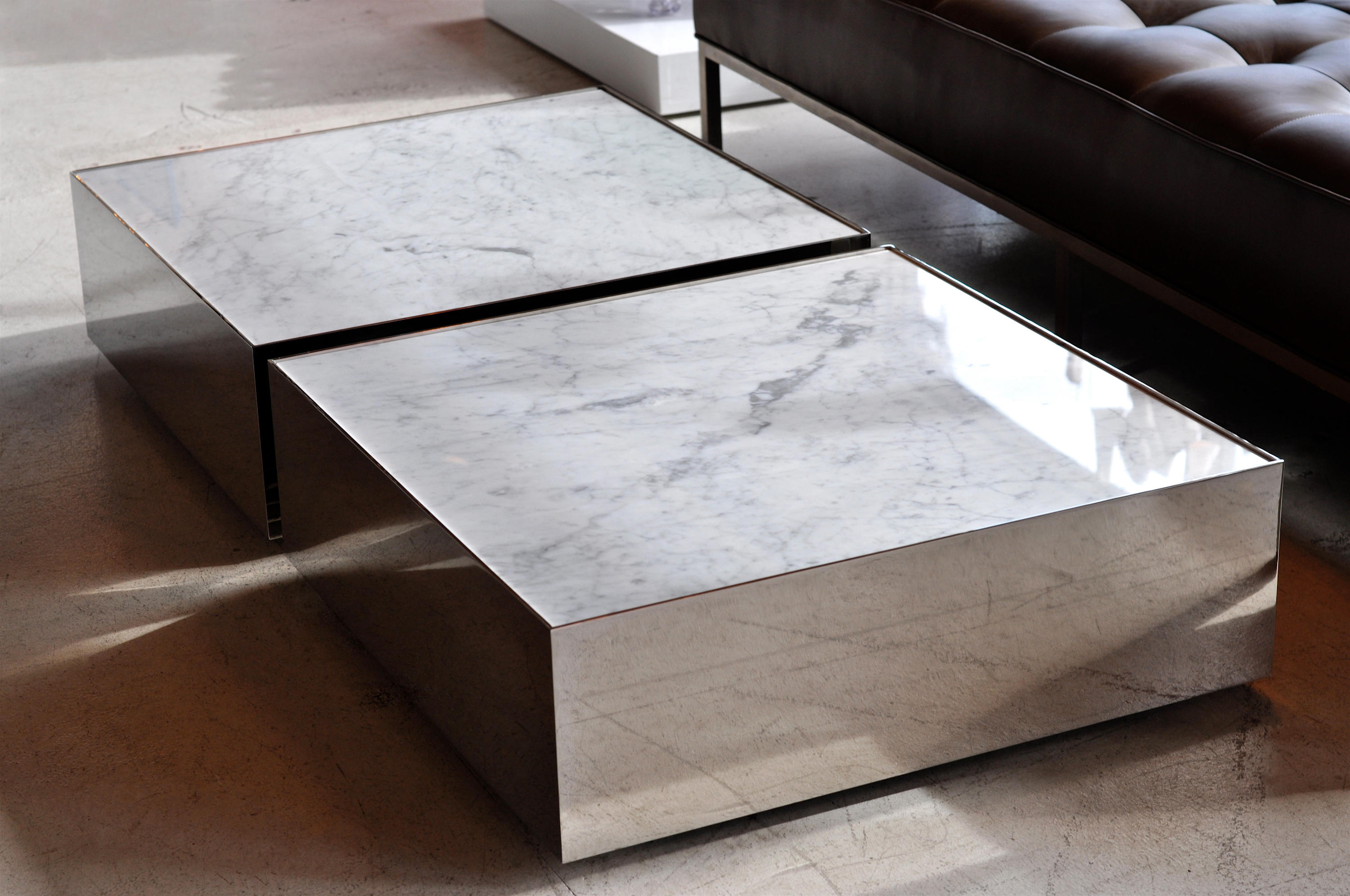 BALLOT MARBLE Lounge tables from Phase Design