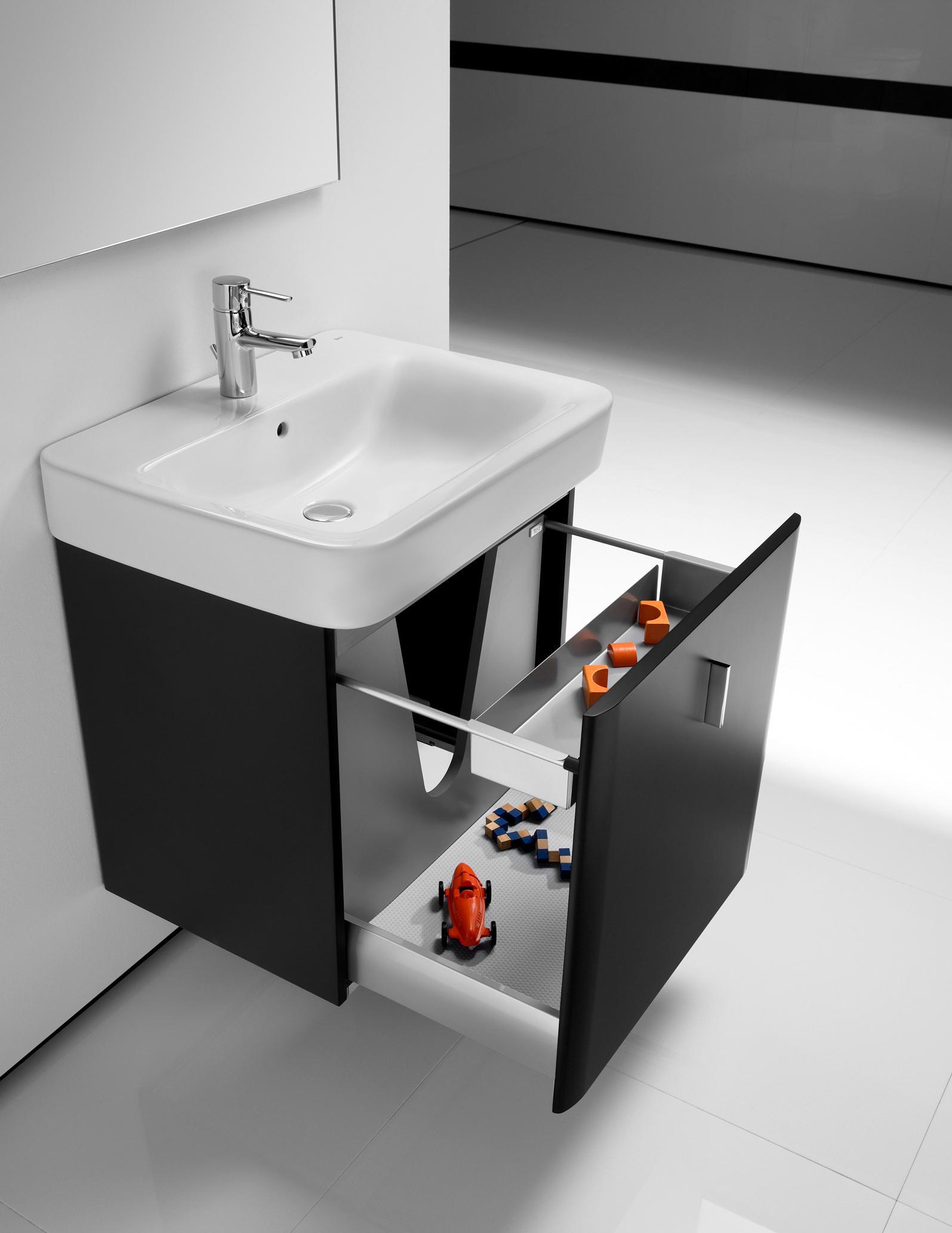 Senso square 2 0 unik vanity units by roca architonic for Roca dama senso