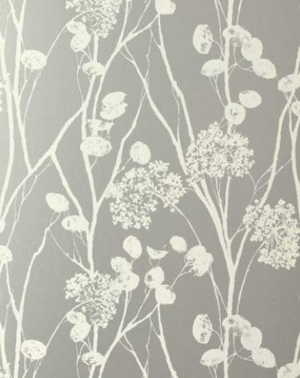 Moonpennies Silver Wallcovering