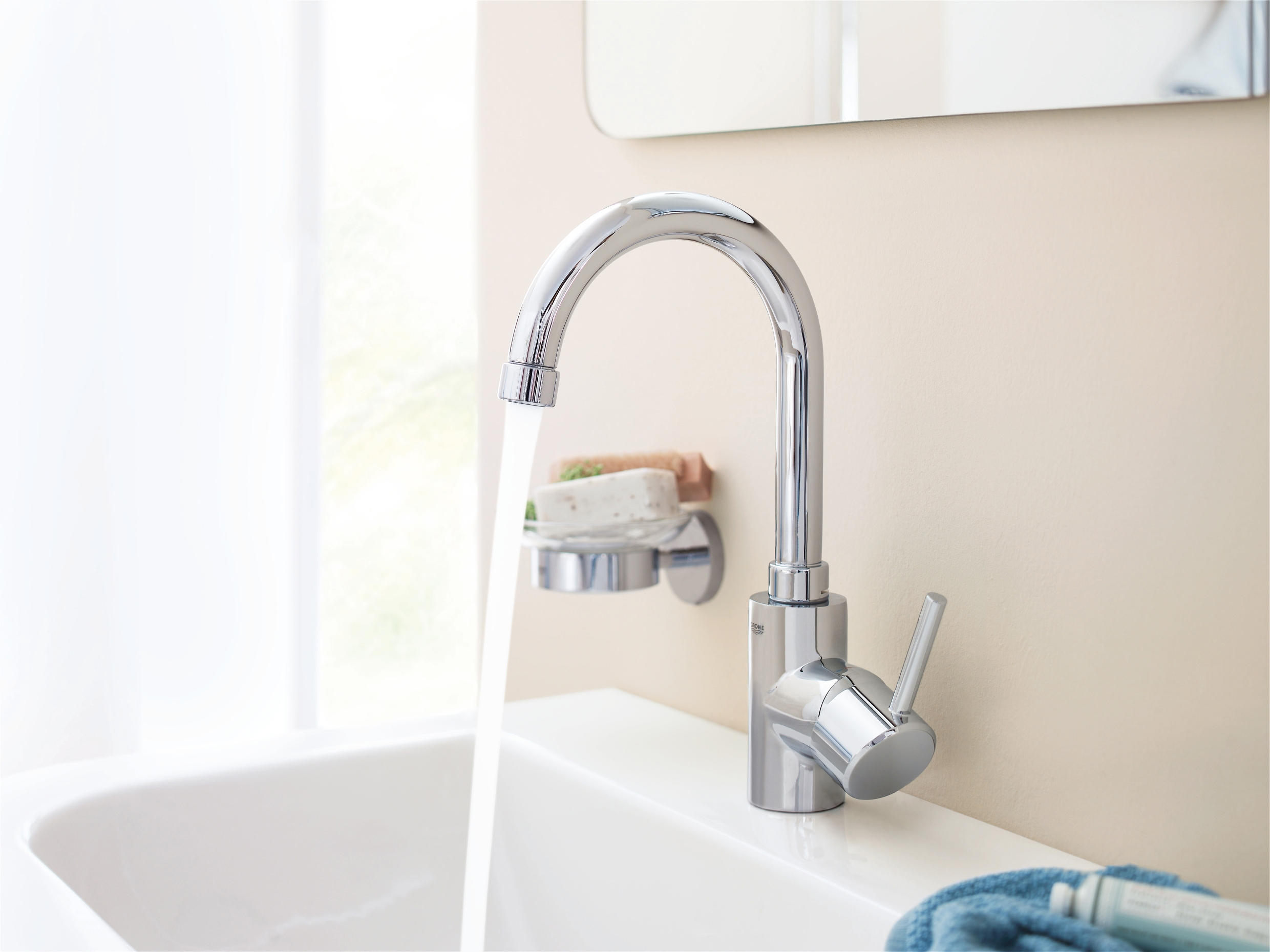 Concetto single lever basin mixer 1 2 l size wash basin - Grohe concetto shower ...